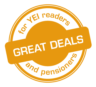 Great deals for You've Earned It members and pensioners