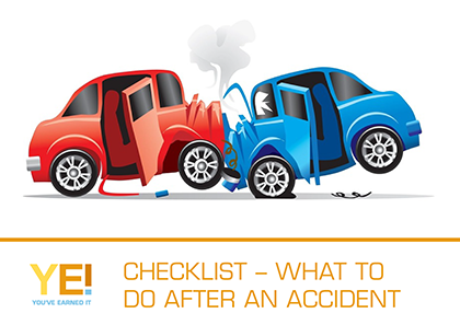 Checklist - what to do after an accident
