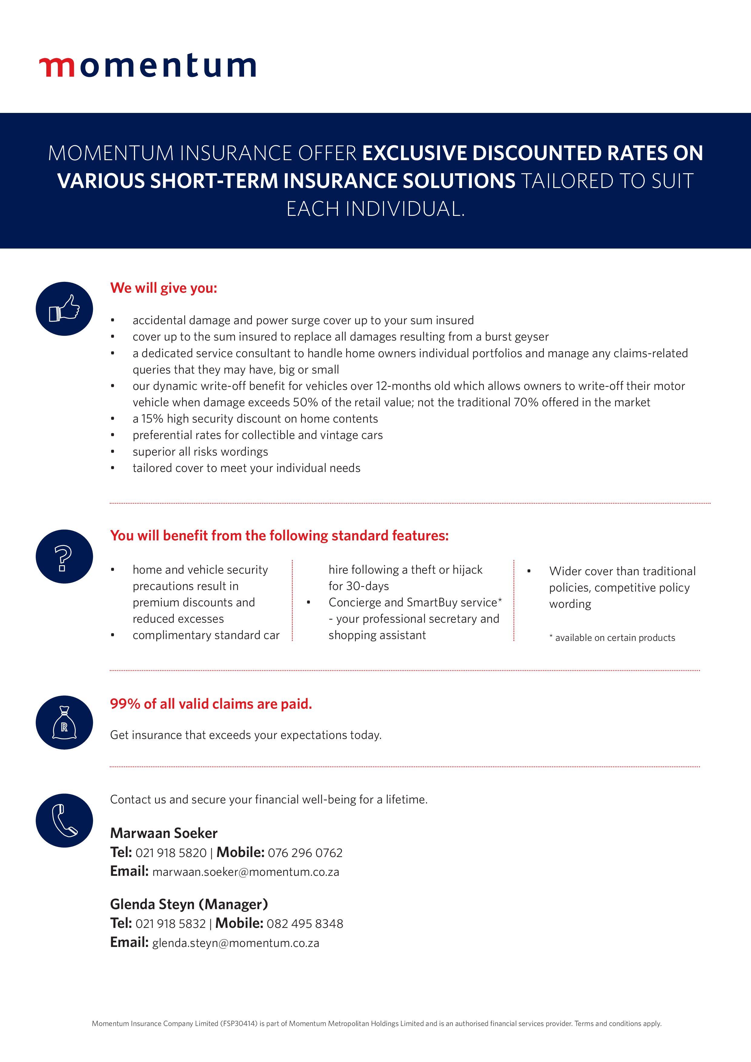 Momentum insurance
