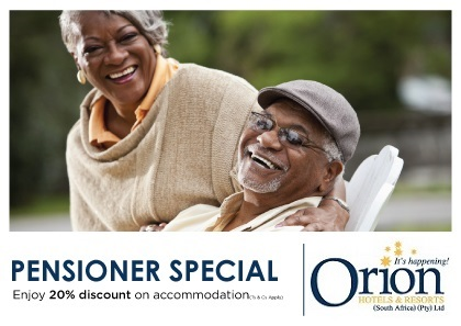 Couple smiling while staying at Orion Hotels