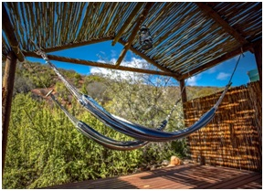Gamkaberg hammock on balcony