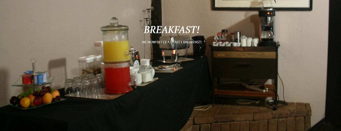 Breakfast at Sabi Star Chalets