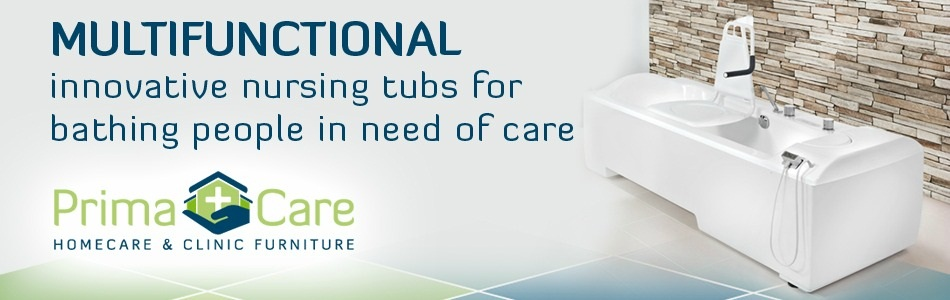 Nursing tub for bathing people in need of care by primacare