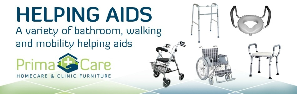 Mobility aids - commode - walking aids - rollator - wheelchair - shower chair banner