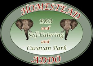 The logo for Homestead B&B and Self-catering and Caravan Park