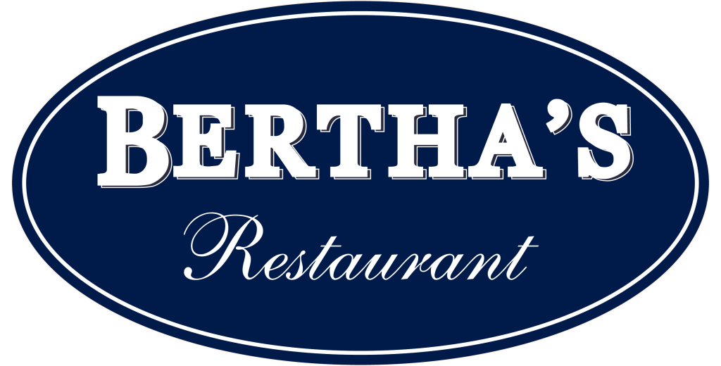 Berthas logo blue