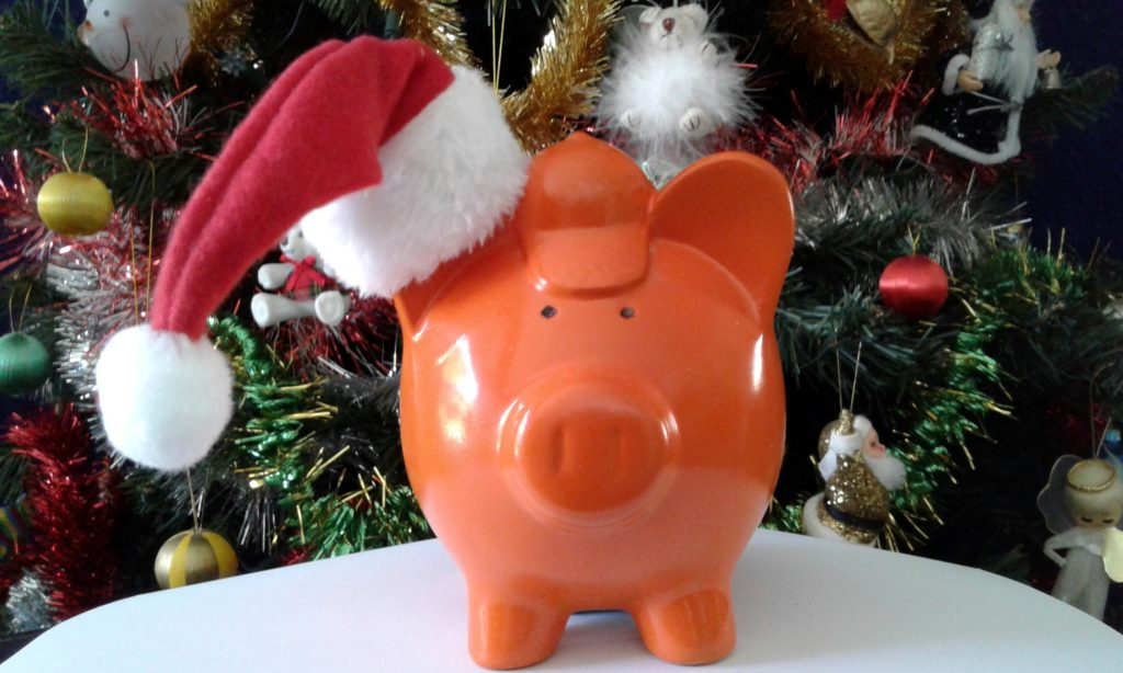 YEI Christmas savings pig