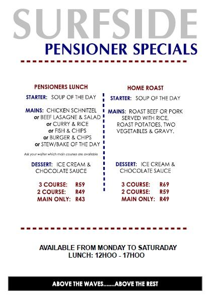 Specials at Surfside Restaurant