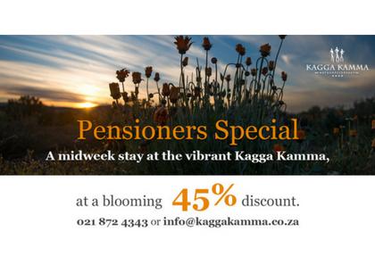 Kagga Kamma pensioner special