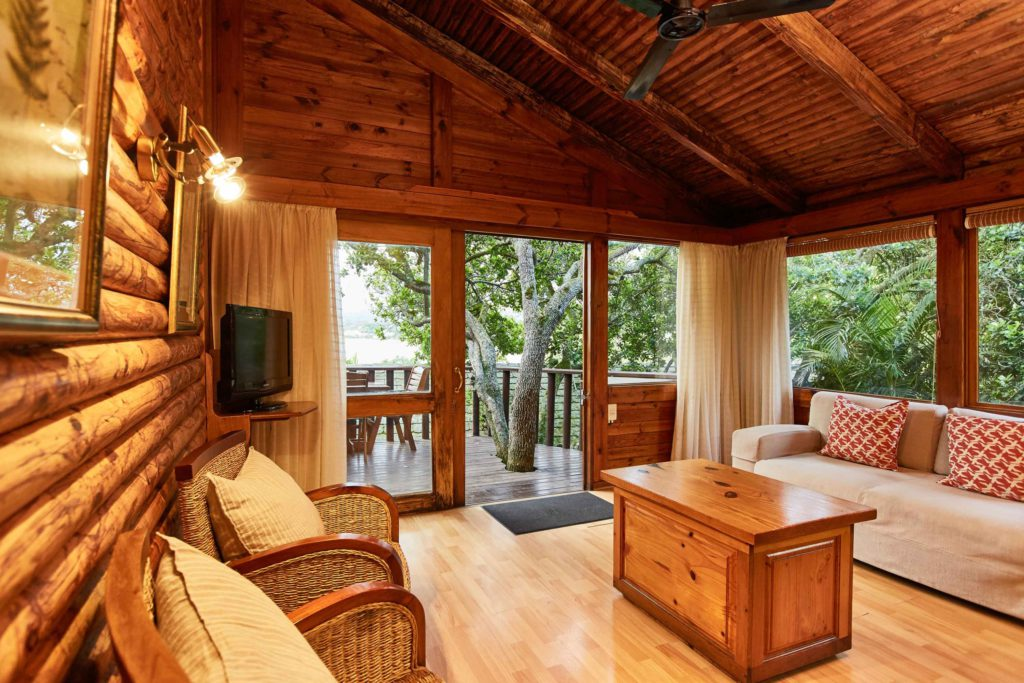 A view inside the chalets at Under Milkwood chalets
