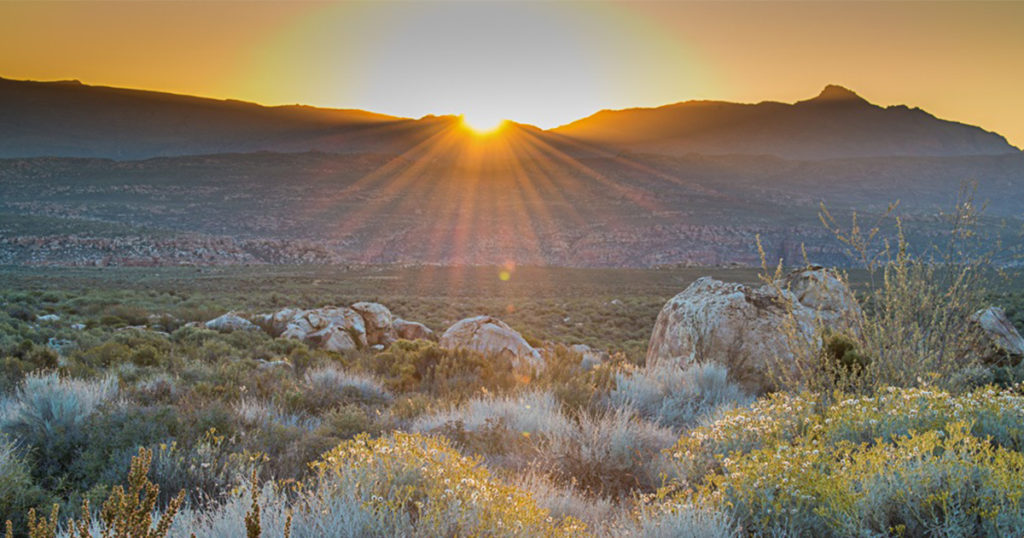 Sunrise at Kagga Kamma