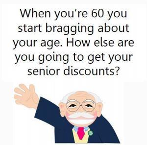 cartoon - turning 60