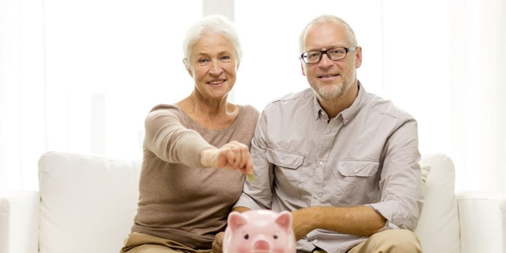 senior couple and savings