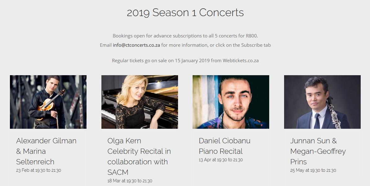2019 season 1 concerts