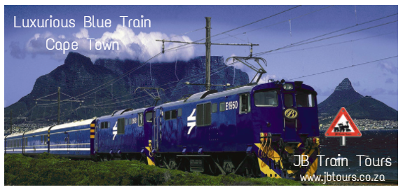 JB Train Tours - blue train