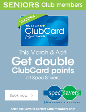 Clicks Specsavers Adspace B homepage – March and April 2019