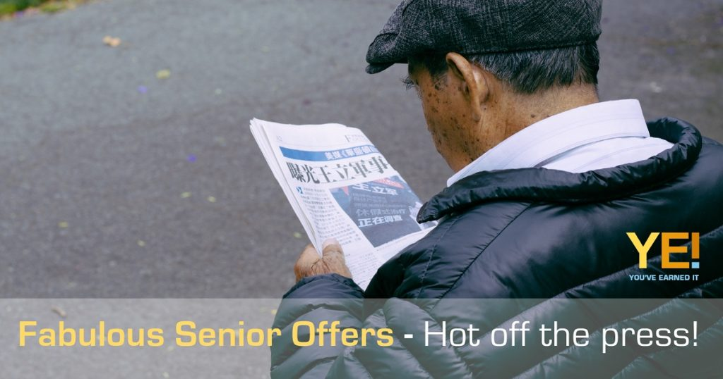 New senior offers hot off the press