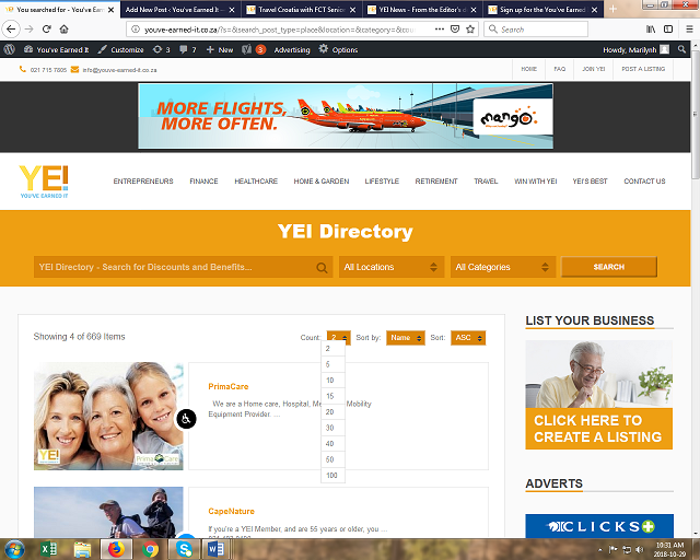 Screenshot YEI