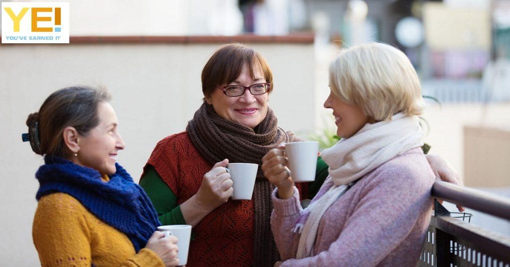 senior women retired roomies