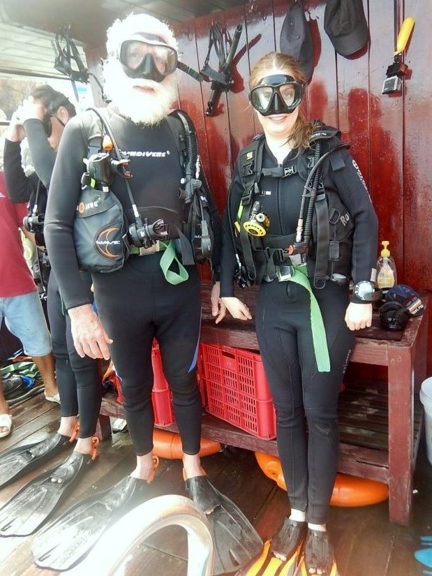Elred and diving buddy