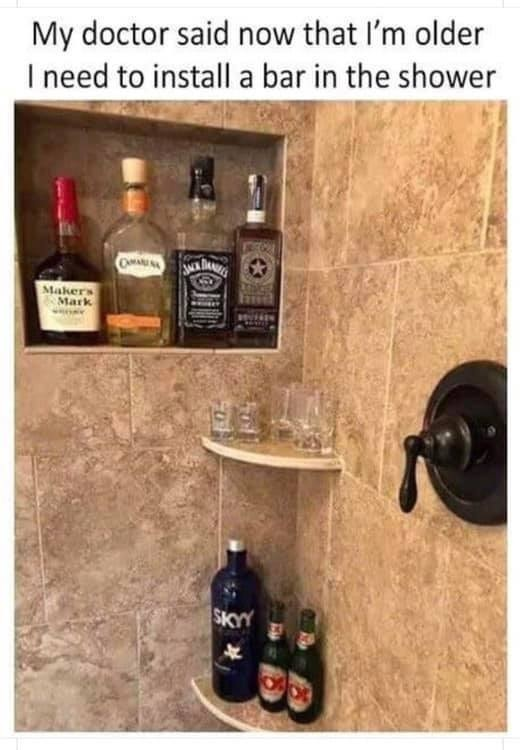 bar in shower