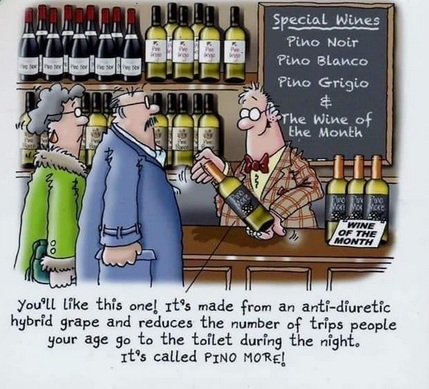 Cartoon about wine