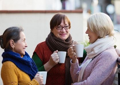 retirement - ladies drinking coffee