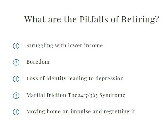 Pitfalls of retirement