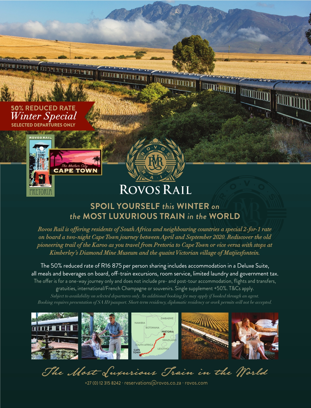 Rovos rail winter special
