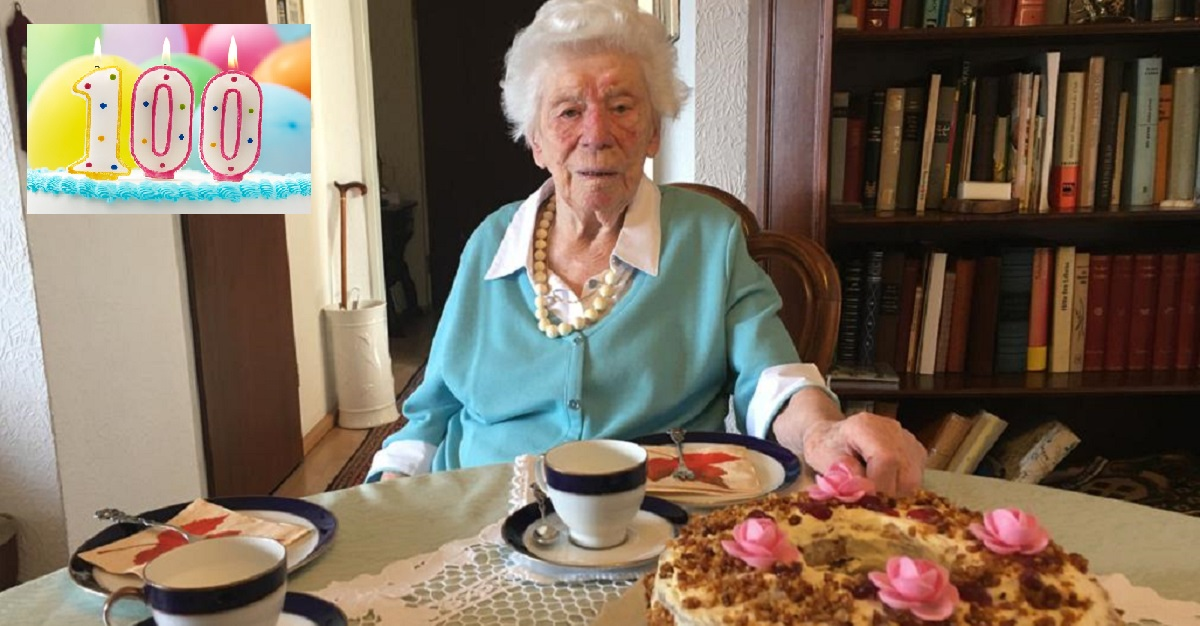 Centenarian lockdown birthday