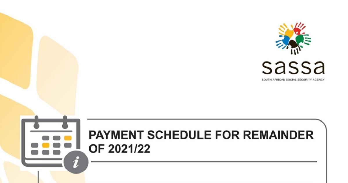 SASSA payment dates 2021