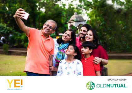 Family taking selfie Old mutual