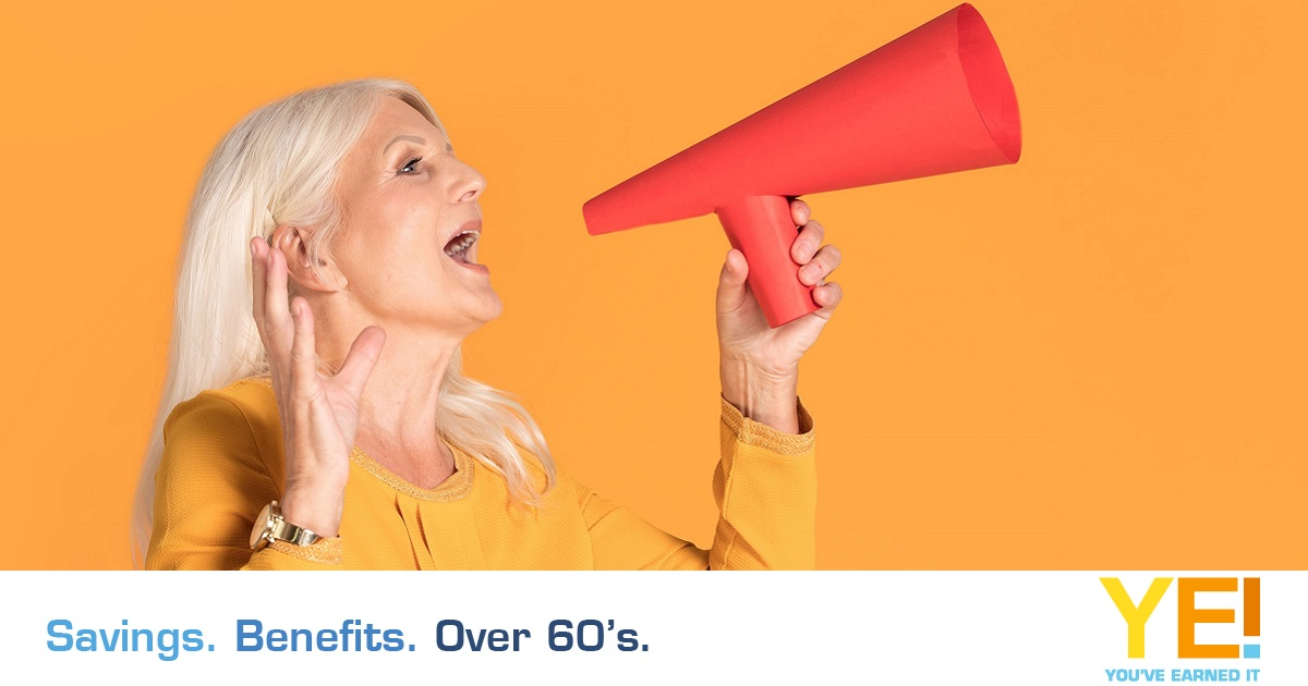 Lady announcing great deals and benefits